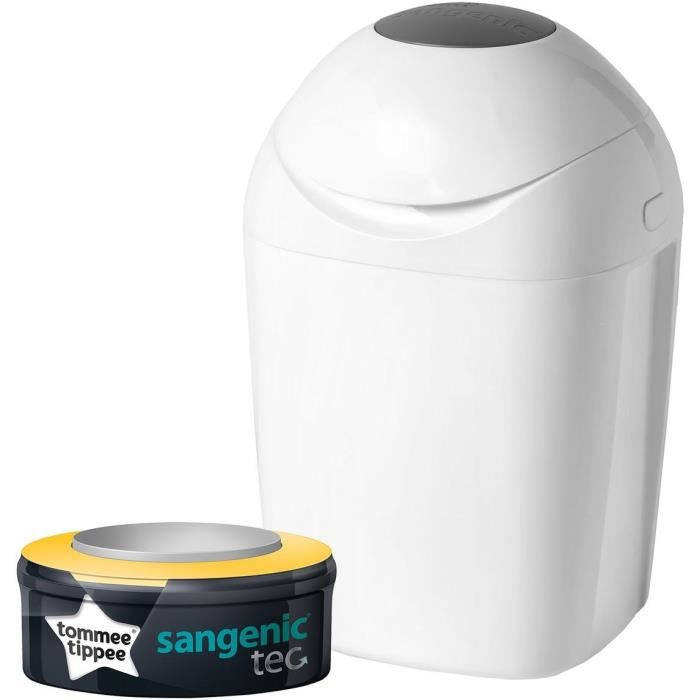 TOMMEE TIPPEE Sangenic Poubelle à Couches TEC - Blanche