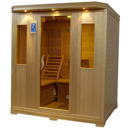 Sauna infrarouge naos 4 places hemlock achat vente kit sauna sauna infrar - Sauna infrarouge 4 places ...