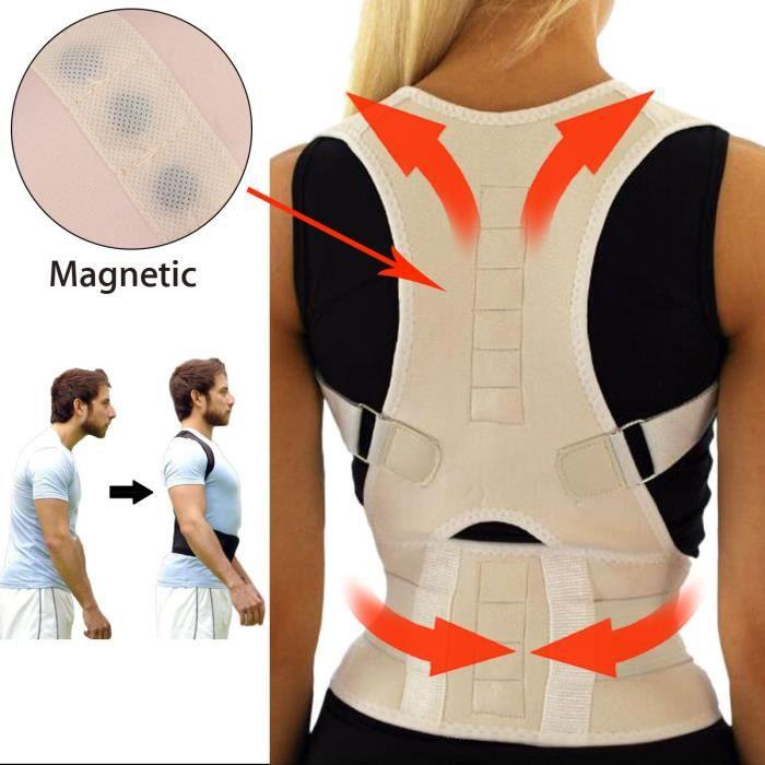CEINTURE LOMBAIRE TEMPSA Posture Ceinture Magnétique Correcteur Epau