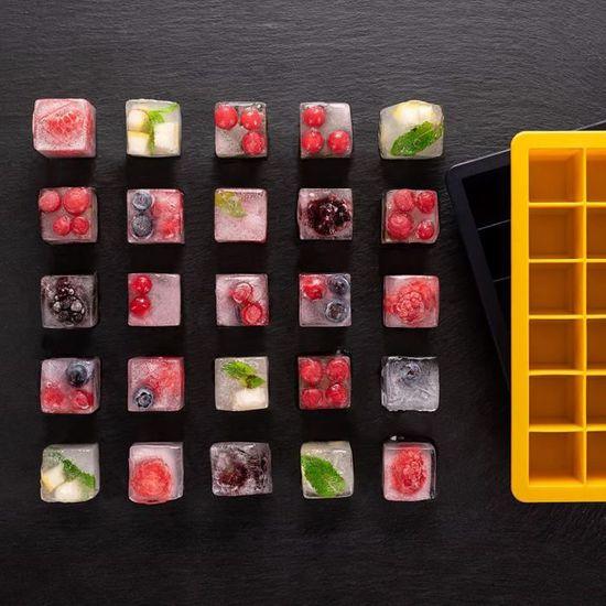 Moule /à gla/çons en silicone en forme de boule Qualit/é alimentaire Flexible et r/éutilisable transparent 4 emplacements