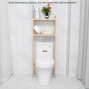 COLONNE - ARMOIRE SDB 2 Niveaux Étagère de toilette Tablette de rangemen