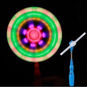 LED musique arc-en-ciel Spinning moulin à vent brille jouets pour les enfants