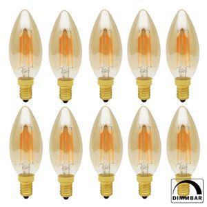 AMPOULE - LED 10X C35 D'or Rétro Ampoule LED Dimmable E14 4W Edi
