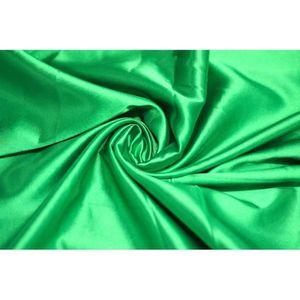 TISSU Tissu Satin Elasthane Vert -Au Mètre