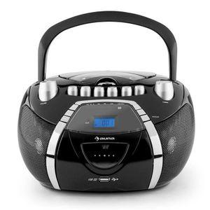 RADIO CD CASSETTE auna Beeboy - Radio, Lecteur CD, Lecteur Cassette,