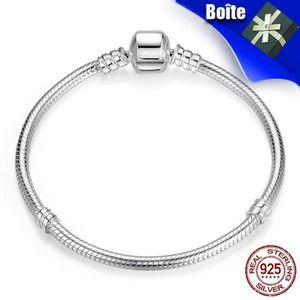 BRACELET - GOURMETTE Pandora Style Bracelets 20cm Noël 925/1000 AAA Arg