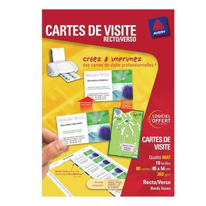 25EUR18 Avery Cartes De Visite 85x54mm