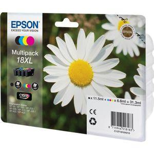 CARTOUCHE IMPRIMANTE Epson 18XL Multipack Pack de 4 XL noir, jaune, cya
