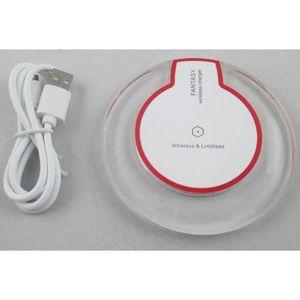 CHARGEUR TÉLÉPHONE Chargeur Induction sans fil blanc et transparent c