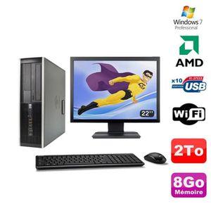 UNITÉ CENTRALE + ÉCRAN Lot PC HP Compaq 6005 Pro SFF AMD 3GHz 8Go 2To Gra