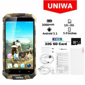SMARTPHONE Vert- UNIWA V9 + 3G Smartphone MT6580M Quad Core 5