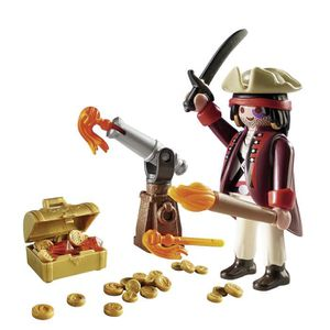 UNIVERS MINIATURE PLAYMOBIL 9415 - Pirates - Pirate avec canon et tr