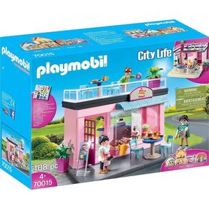 UNIVERS MINIATURE PLAYMOBIL 70015 - City Life La Ville - Salon de th