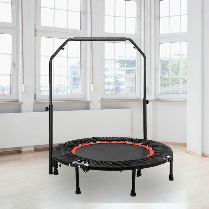 Trampoline fitness Main courante C portable hauteur réglable (102 x 102 x 112,5) cm