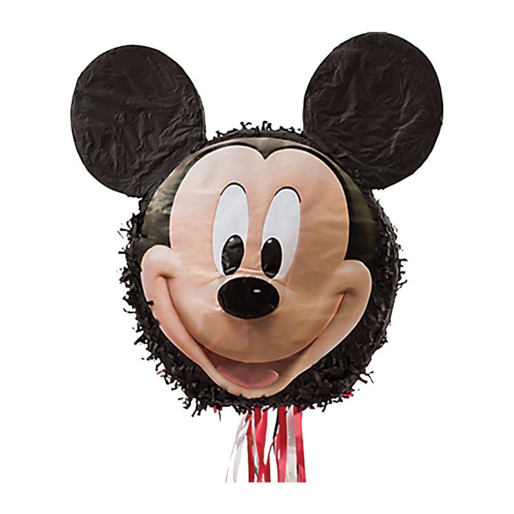 Pinata à ficelles Mickey Mouse en papier et plastique - 43 x 45,5 x 10,5 cm - 9903155
