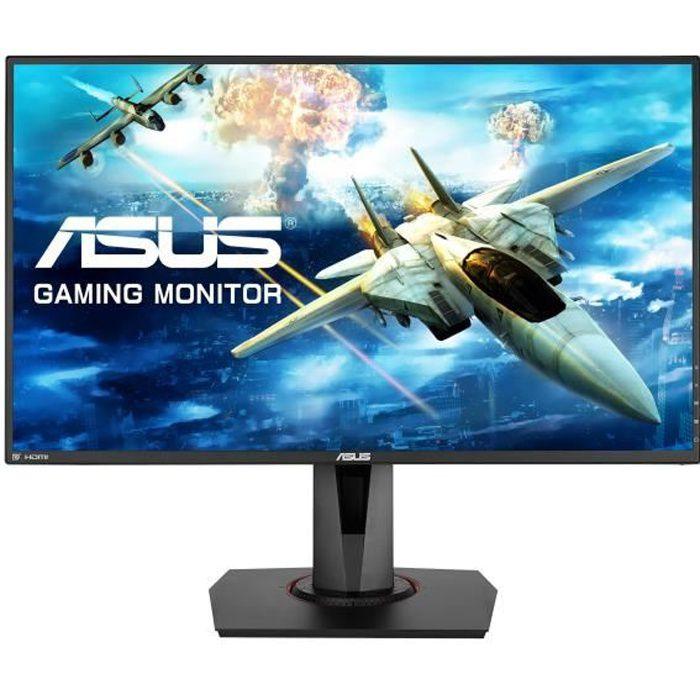 ASUS VG278Q Écran LCD 27- 1920 x 1080 Full HD (1080p) TN 400 cd-m² 1000:1 1 ms HDMI, DVI-D, DisplayPort haut-parleurs noir