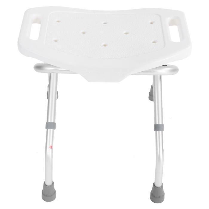 Siège de douche Chaise de salle de bain Aide aux personnes handicapées Stool Style d'aspiration Pieds Cadre stable-XIA