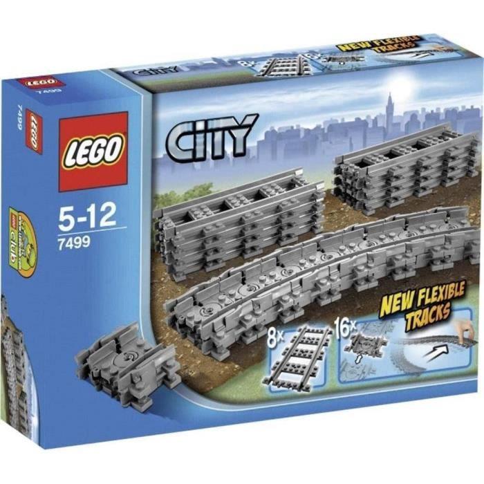 Jeux de construction LEGO City - Rails flexibles - 7499 - Jeu de Construction 51766