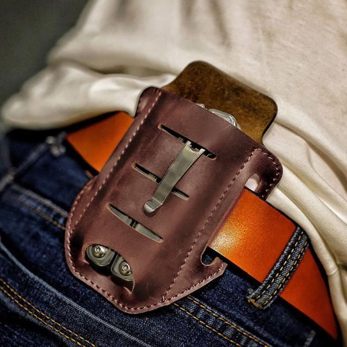 Ensemble d'outils portables pour survie en plein air, taille suspendue, sac de ceinture pour hommes J7125