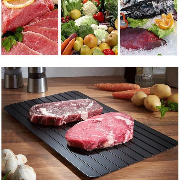 5PCS Plaque de Décongélation pour Décongélation Rapide de Viande des Aliments Congelés sans Électricité -