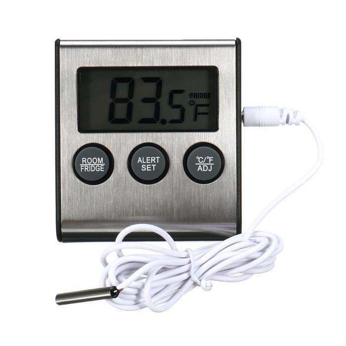 Numérique Thermomètre de Réfrigérateur Sonde Aliment Frigo Cuisine L17505