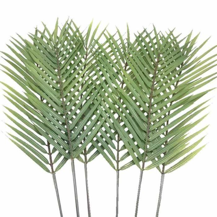 Lot de 6 feuilles de palmier artificielles en forme de feuilles de palmier tropicales de feuilles de palmier artificielles de feuill