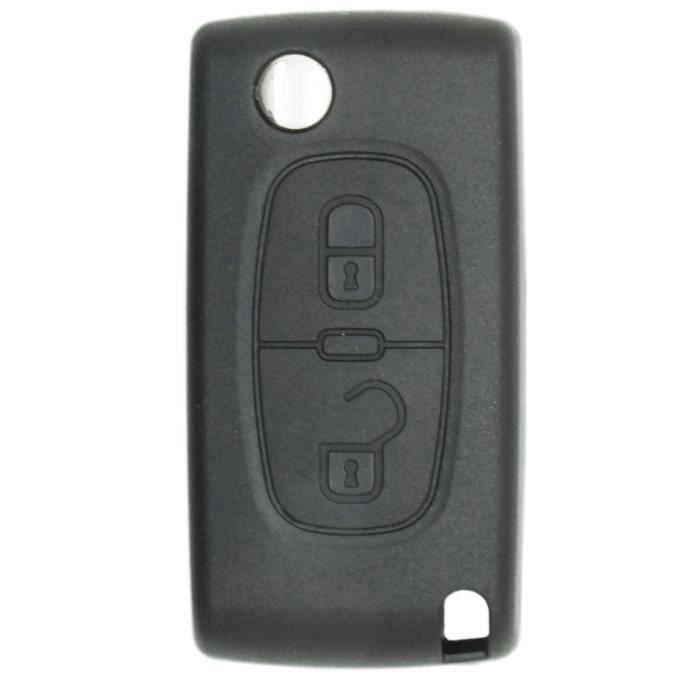 Coque de clé compatible Peugeot-Citroën 2 boutons Wir52