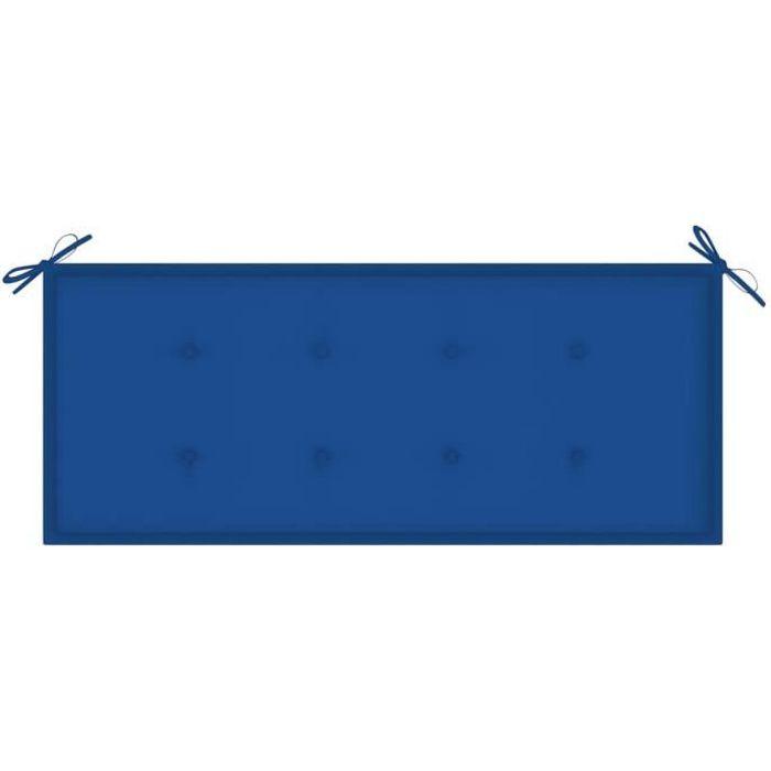 ⛺8437Ergonomique-Coussin de banc de jardin -Coussin D'extérieur Matelas Assise Dossier pour Banc Banquette balancelle canapé Bleu ro