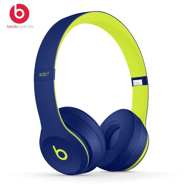 Beats Solo3 Casque Bluetooth sans fil sur l'oreille Gaming Headset Musique écouteur mains libres avec micro 1_Regisi