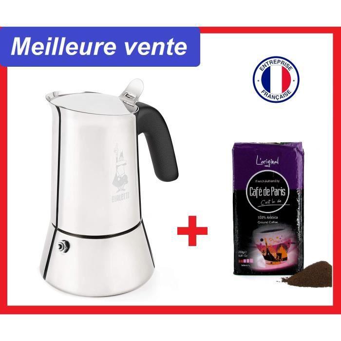 BIALETTI Cafetière induction Moka -New venus- + café moulu. Livraison gratuite