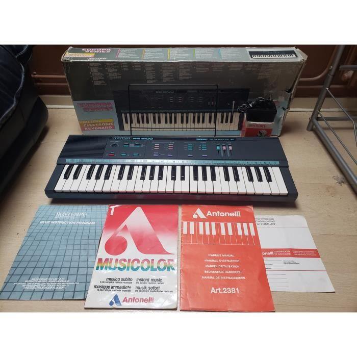 PIANO SYNTHETISEUR ORGUE KEYBOARD ELECTRIQUE BONTEMPI ES 5100 RETRO VINTAGE