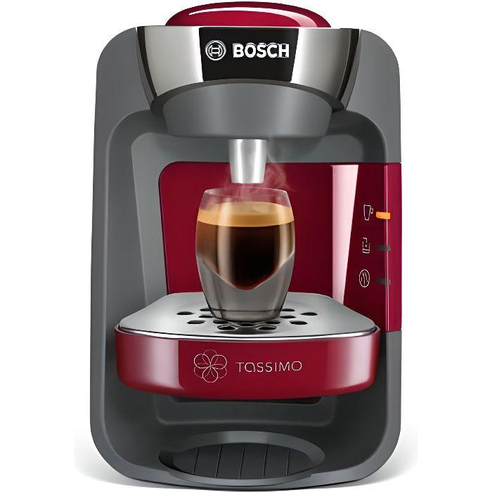 BOSCH Tassimo Suny Machine à Café Cafetière à Dosette Multi-boissons Rouge