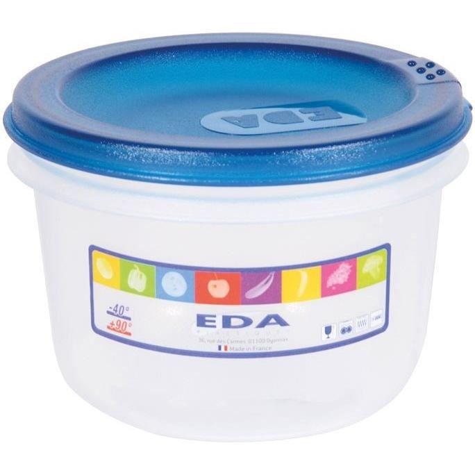 EDA - Boîte ronde 0.5l naturel couvercle turquoise acidulé