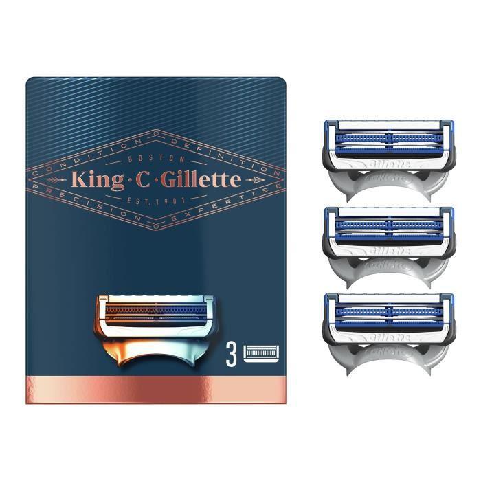KING C. GILLETTE Lames de rasoir Cou x3