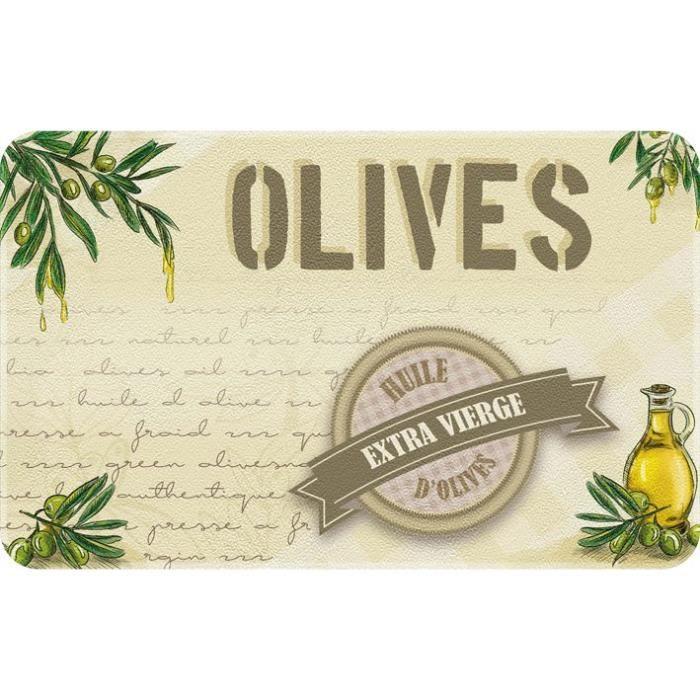 Tapis de cuisine - 50x80 cm - Huile d'olives