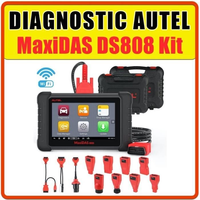 Autel MaxiDAS DS808 Valise professionnelle Logiciels de diagnostic constructeurs