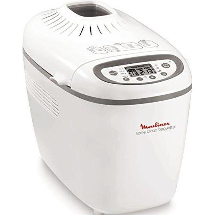 Moulinex OW610110 Machine à Pain Baguettes Plastique Blanc-Gris 28,5 x 45 x 33,5 cm Baguette