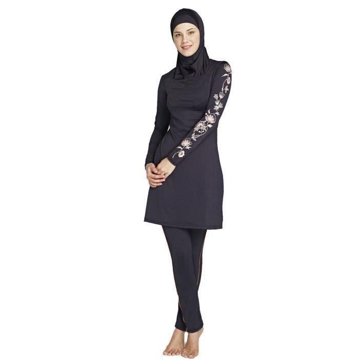 Maillot de bain maillot de bain musulman pour les femmes islamiques noir maillot de bain musulman pour la natation hijab maillots