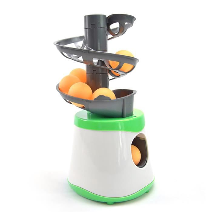 Machine Formateur Cadeau Raquette Sport Mini Tennis De Table Robot Parent-Enfant Étudiant Expéditeur Pitching Servir - Vert Et