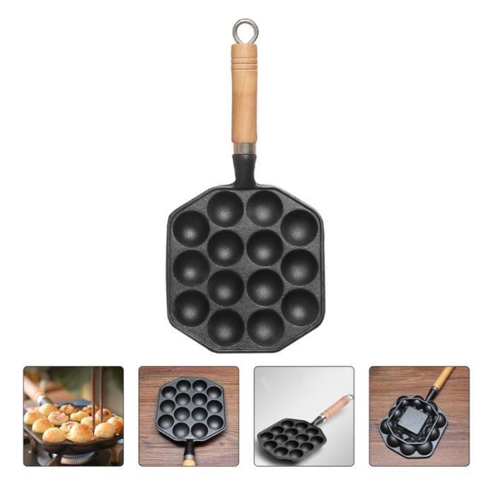 1 pc 14-Trou Poffertjes Moule Takoyaki Pan Cuisson Outil Boules De Crêpes pour La Maison Boutique   BROSSE ALIMENTAIRE