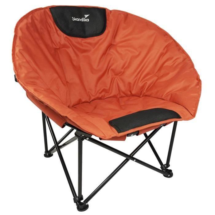 Skandika Moonchair Saramo - Fauteuil siège de camping - max. 120 kg - Pliable - Sac de transport