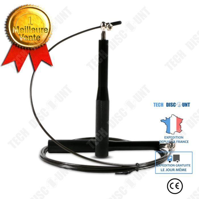 TD® Formation fil d'acier fitness corde à sauter réglable aluminium métal roulement course enfants corde à sauter