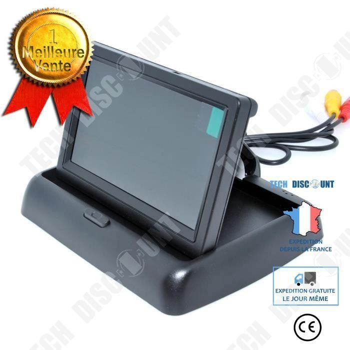 TD® Camera Radar de Recul avec Moniteur 4.3 - Moniteur pliable TFT Ecran LCD pour caméra de recul arrière voiture accessoire