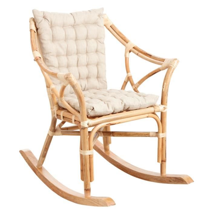 rocking chair en rotin achat vente rocking chair en rotin pas cher les soldes sur. Black Bedroom Furniture Sets. Home Design Ideas