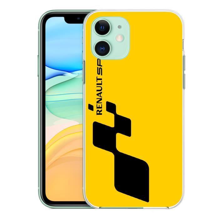 coque pour iphone 11 renault sport jaune 2