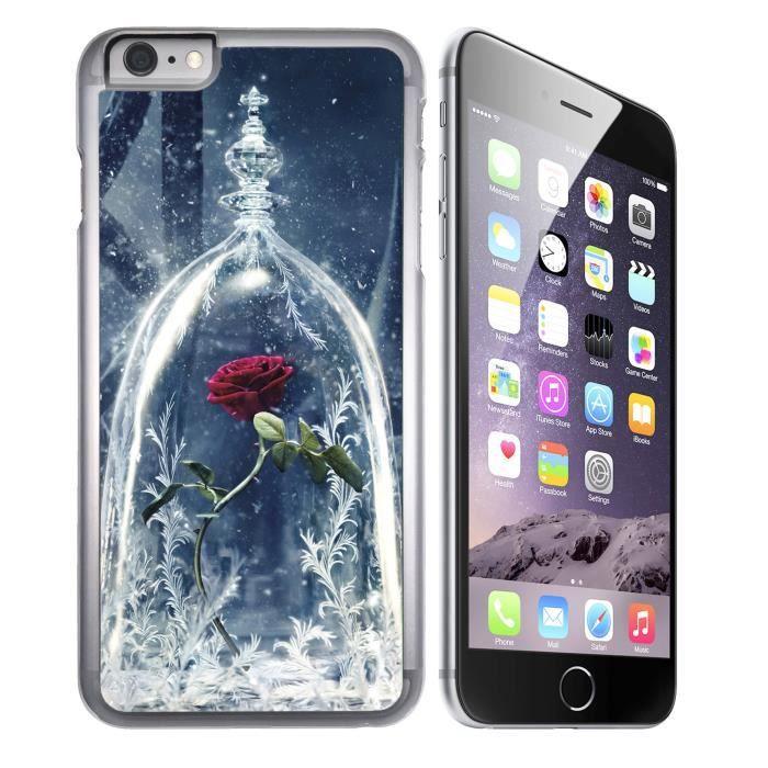 Coque iPhone 8 Plus Rose la Belle et la Bête
