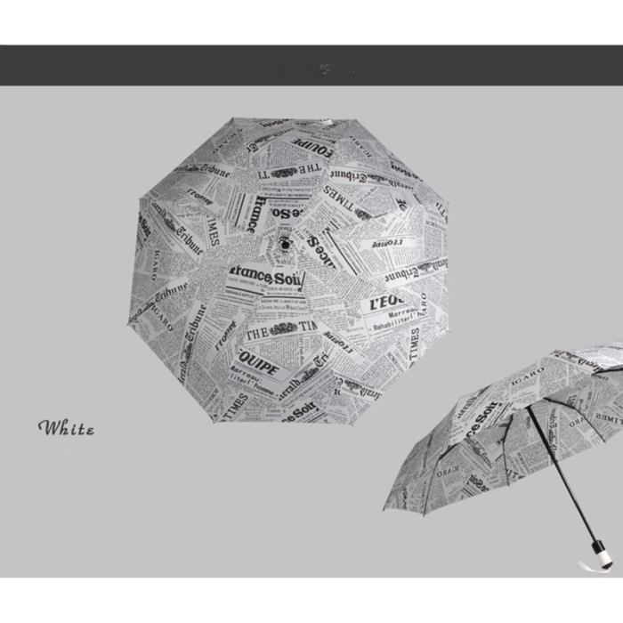mini parapluie enti rement automatique journal imprim achat vente parapluie 2009828808155. Black Bedroom Furniture Sets. Home Design Ideas