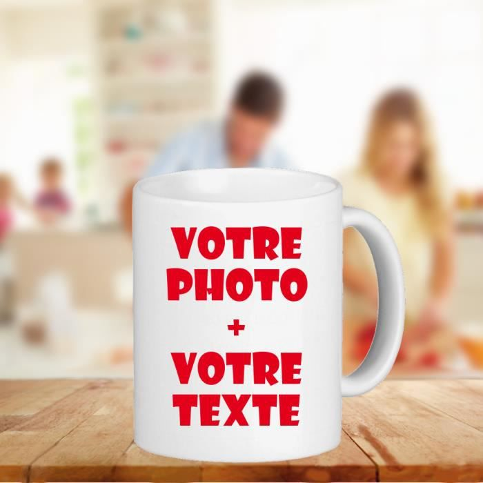 mug tasse personnalis avec votre photo et texte achat vente bol mug mazagran black. Black Bedroom Furniture Sets. Home Design Ideas