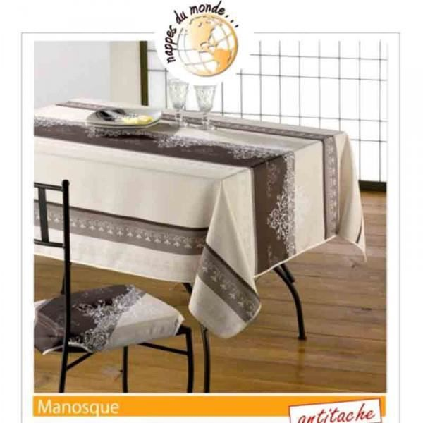 nappe rectangle manosque camel 2m40 1m50 anti achat vente nappe de table soldes d t. Black Bedroom Furniture Sets. Home Design Ideas