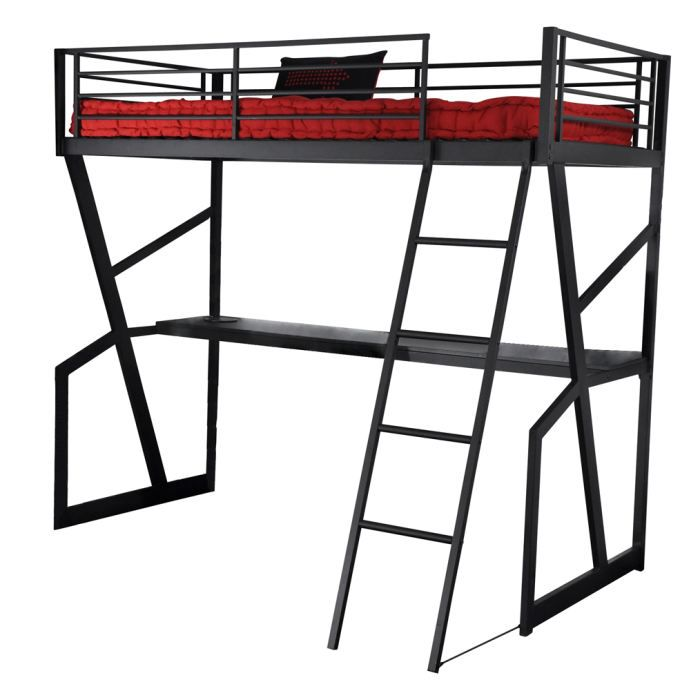 lit mezzanine 90 et bureau laura achat vente lit mezzanine cdiscount. Black Bedroom Furniture Sets. Home Design Ideas